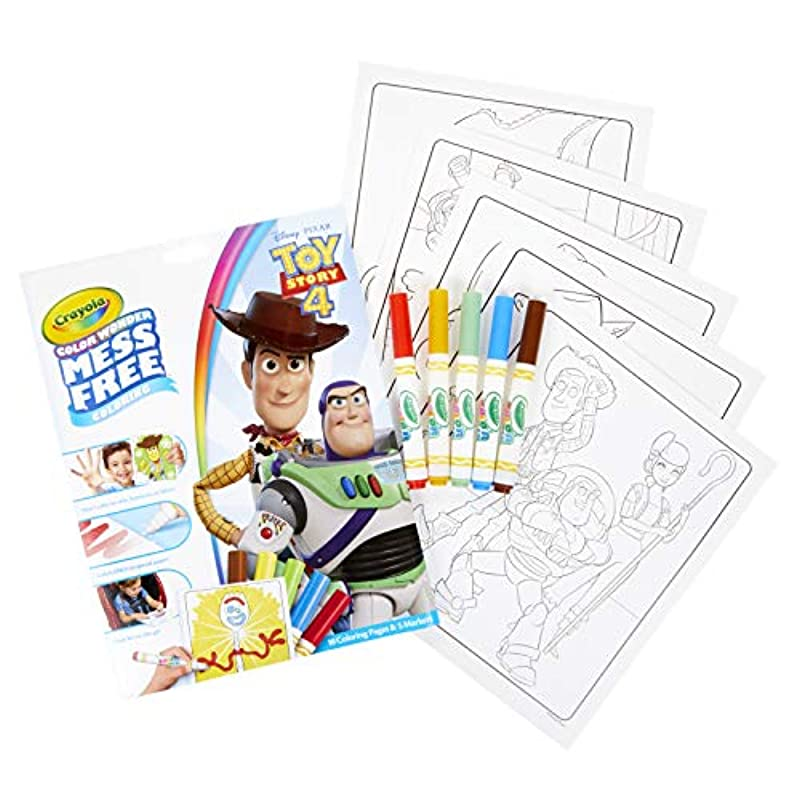 Crayola 75-7008 Wonder Toy Story Coloring Pages, Mess Free ...