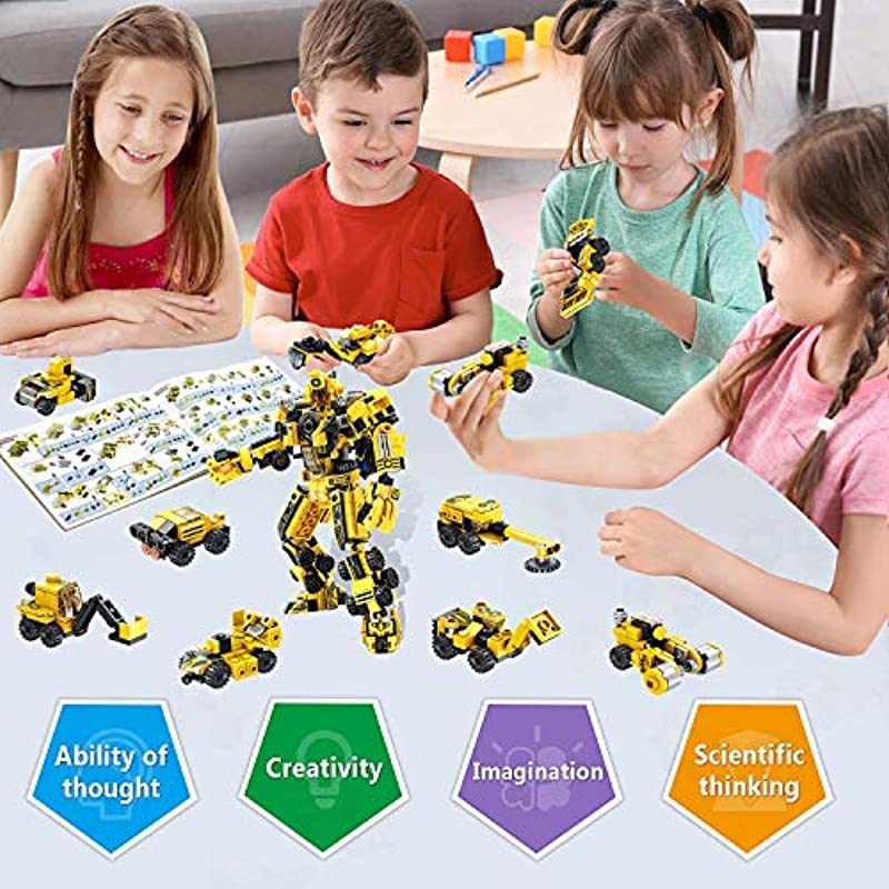 LUKAT STEM Building Toy for Kids, 573 PCS Robot Toys for 6 ...