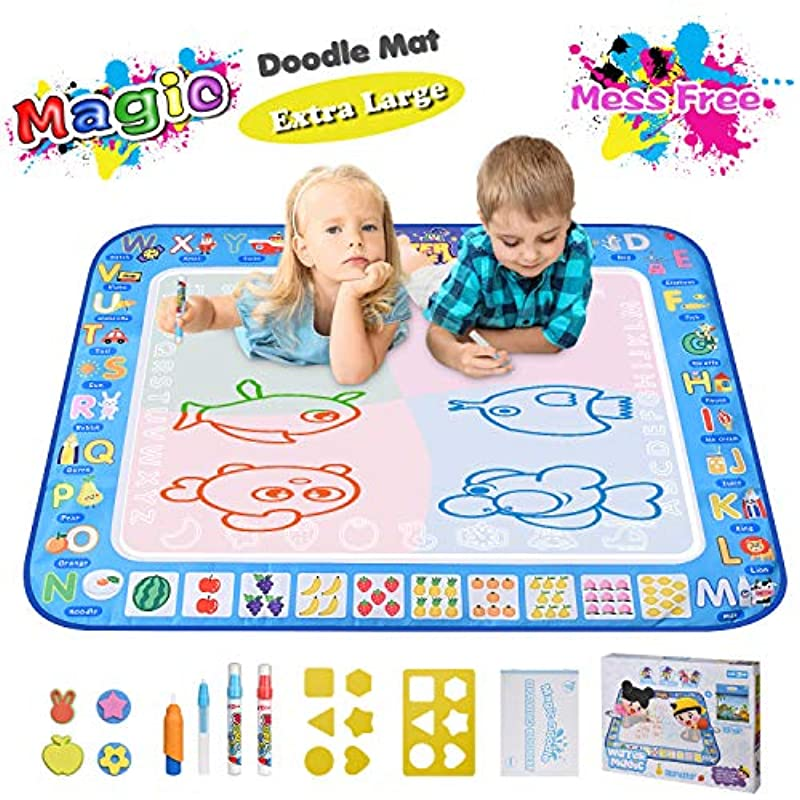 """Large Magic Water Drawing Mat 38.5""""x29.5"""" Learning Toys ..."""