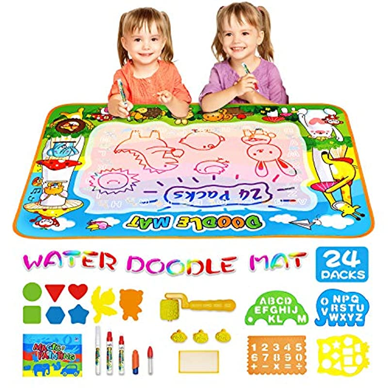 MOZOOSON Educational Toy-Water Doodle Mat, Kids Large ...