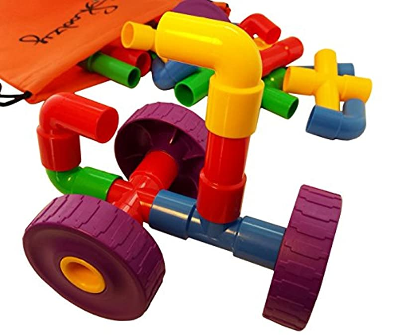 Skoolzy STEM Toys for Boys and Girls - Pipes & Joints ...