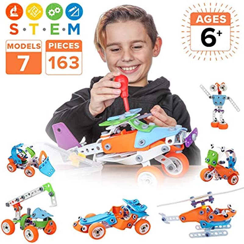 Toy Pal STEM Toys for 6-8 Year Old Boys | 7 in 1 ...